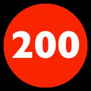 Interval kort: 14x200m